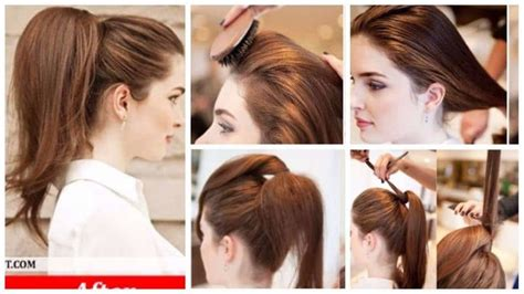 classy and easy to make walima hairstyle ideas for girls how to make elegant high full ponytail hairstyle simple