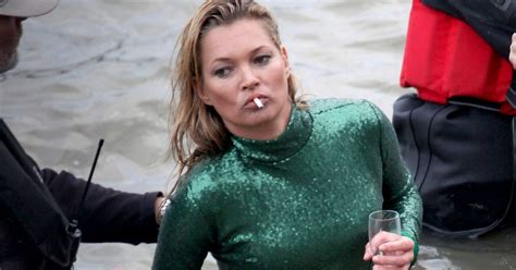 Who Is The Real Kate Moss by Kate Moss Pictured Splashing Around In The Thames