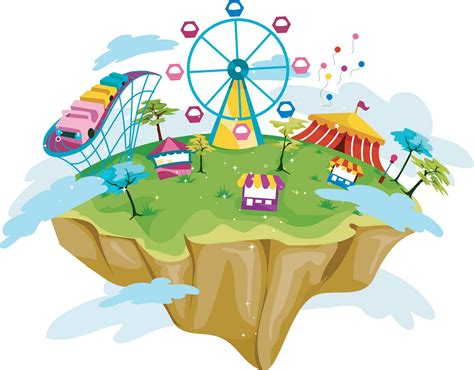 themes in cartoons amusement park clipart map amusement park clipart map