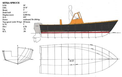 wooden v hull boat plans sitka spruce 18 32 knot deep vee outboard fisherman
