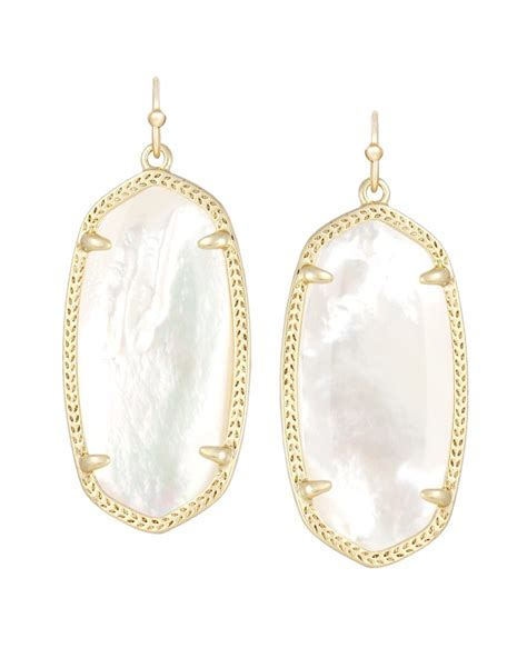 kendra earrings in ivory pearl cayman s clothiers