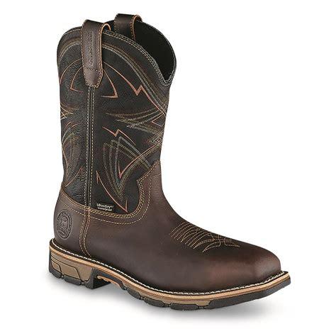 marshalls mens boots setter s marshall waterproof steel toe western