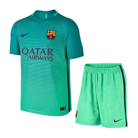 Jersey Kid Barcelona 3rd 16 17 barcelona third away children s jersey green kit shirt and barcelona jersey shirt