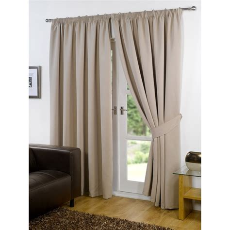 beige blackout curtains dreamscene blackout pencil pleat curtains beige iwoot