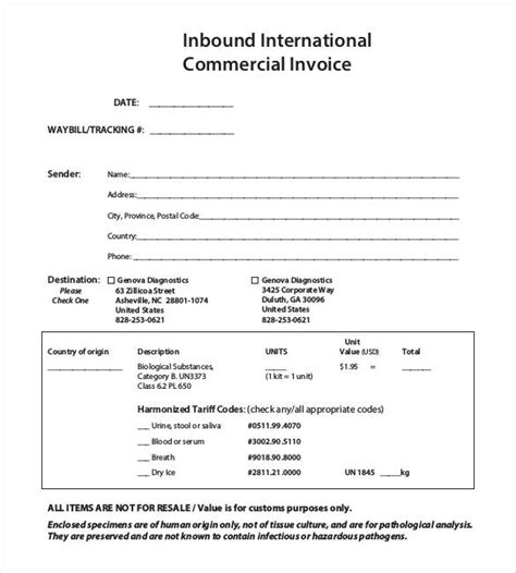 international invoice template 21 commercial invoice templates free word excel pdf