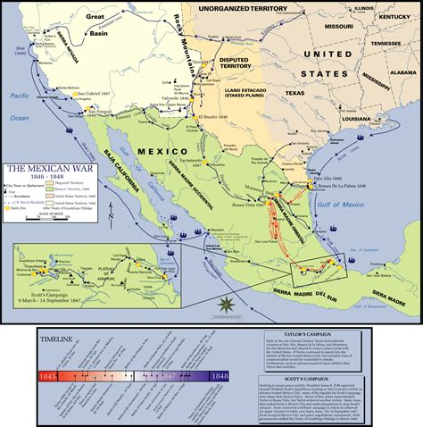 map us before mexican war map of the week mexican american war overview map