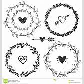 Drawn wreath ru...