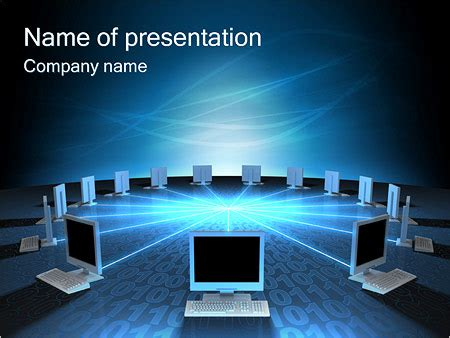Computer Network Powerpoint Template Backgrounds Id Computer Powerpoint Templates