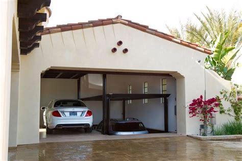 Garage California Custom Car Lift In California Garage Mediterranean