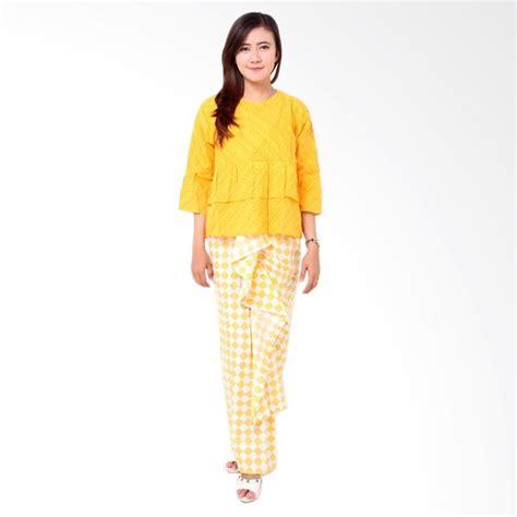 Rok Motif Distro Wanita by Jual Batik Distro Ba8309 Embos Blus Rok Wanita Kuning