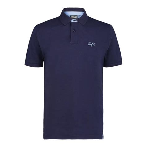Zury Polo Shirt Navy navy polo with sky detail shop junglist network