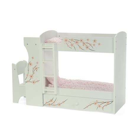 18 inch doll desk 18 inch doll furniture bunk bed with built in desk and
