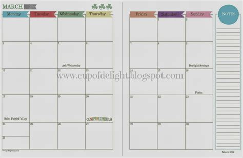 printable monthly calendar pages full size page