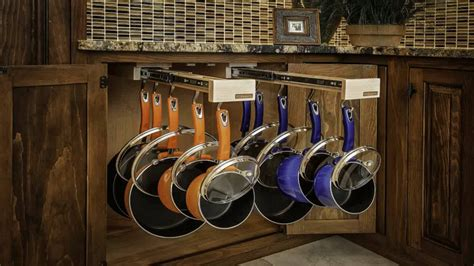 glideware pull out cabinet organizer for pots and pans this under cabinet organizer for your pots and pans is
