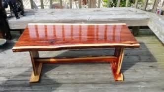 Wood Coffee Table Plans Live Edge Red Cedar Coffee Table Woodworks101 Com