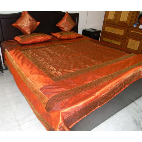 rust bed brocade rust colored bed set online shopping