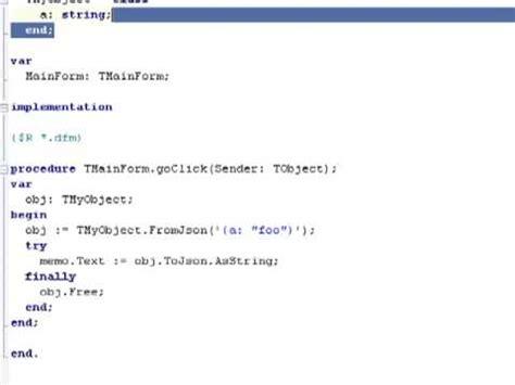tutorial json delphi display returned json format data in a stringgrid and