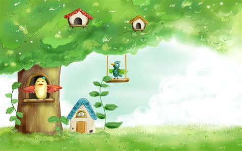 wallpaper cartoon home spring fairyland wallpaper for 24 inch widescreen lcd