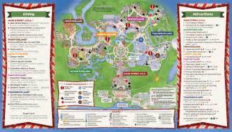 mickey s very merry christmas party 2016 guide map and