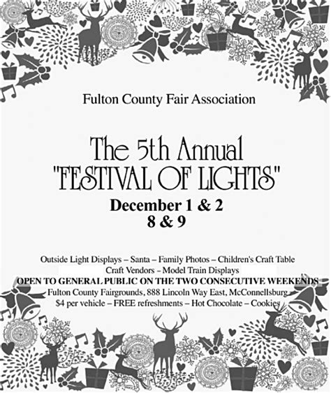 wayne county festival of lights 2017 fulton county festival of lights december 1 2 and