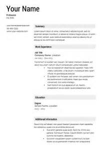 Templates For Resume by 30 Free Professional Resume Templates