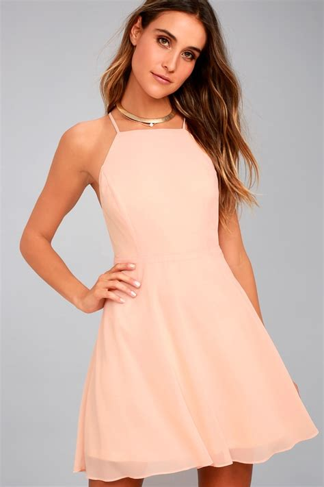 8 Pretty Blush Coloured Clothes by Lovely Blush Pink Dress Skater Dress Fit And Flare Dress