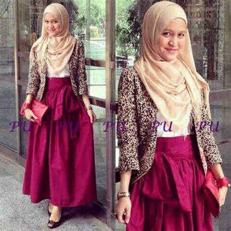 Baju Muslimah Gamis Kaftan Pashmina Cardigan 78 miss tania hijabers vkoy boutique