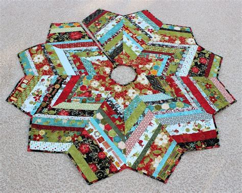 quilt pattern for christmas tree skirt christmas tree skirt quilt 53 inch jovial strings