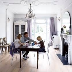 Dining room white victorian terrace house real homes livingetc