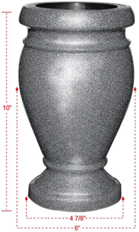 paragon cemetery vase for headstone flowers