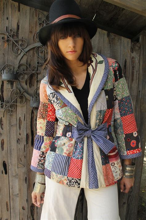 Patchwork Apparel - 1000 ideas about quilted clothes on clothes