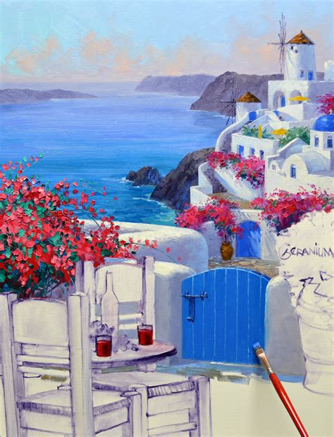 paint with a twist greece image gallery santorini paintings