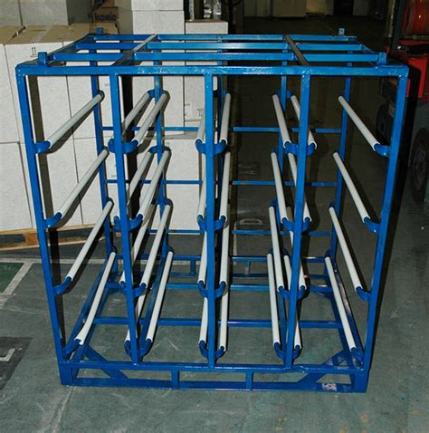 stillages and water bottle racks for storage the water