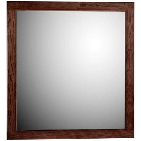 bathroom mirrors at home depot st paul sydney 27 in x 20 in framed wall mirror in dark