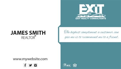 exit realty business cards template unique exit realty business card ideas printing exit