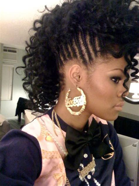 mohawks with tight human hair curls 50 mohawk hairstyles for black women stayglam
