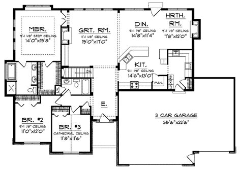 open home floor plans open floor small home plans ranch with open floor plan hwbdo14044 prairie house plan