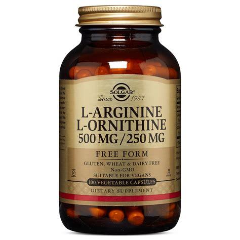 l arginine vegetables solgar l arginine l ornithine 500 250 mg 50