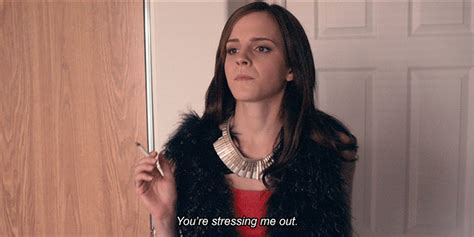 emma watson you re stressing me out youre stressing me out gifs find share on giphy