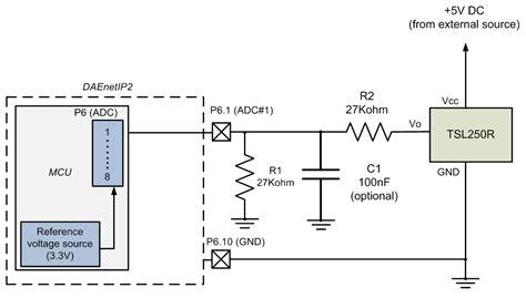 light to voltage optical sensor dae an004 connecting analog sensors to daenetip2