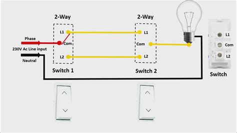 two way switch connection in engilsh universal clab