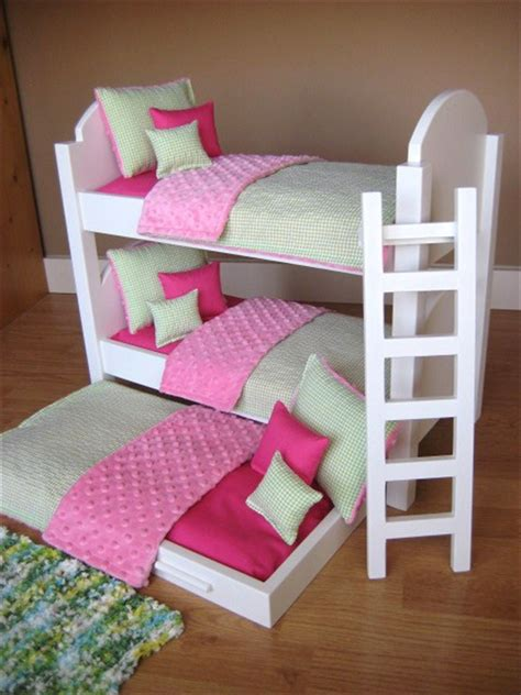 cute girl bunk beds triple bunk bed for american girl dolls reserved for
