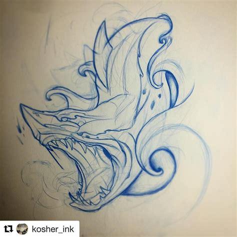shark outline tattoo shark bydiver969 sailor tattoos bydiver969
