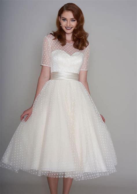 27 Inspiring Ideas of Tea Length Wedding Dresses   The