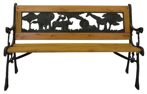 kid benches junior safari park bench cast iron kids park bench with