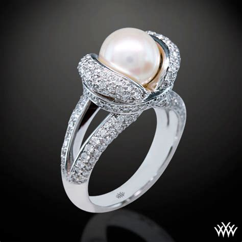 Wedding Rings With Pearls by Pearl Engagement Rings