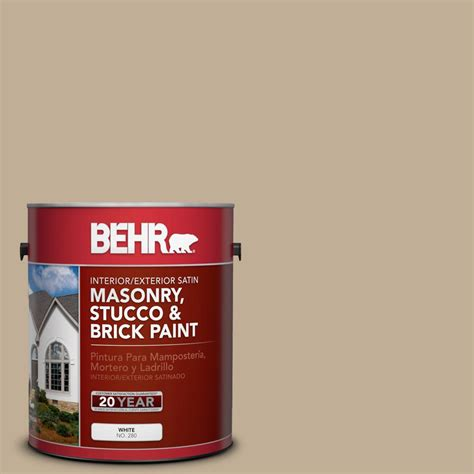 behr 1 gal ppu7 7 riviera satin interior exterior masonry stucco and brick paint 28201