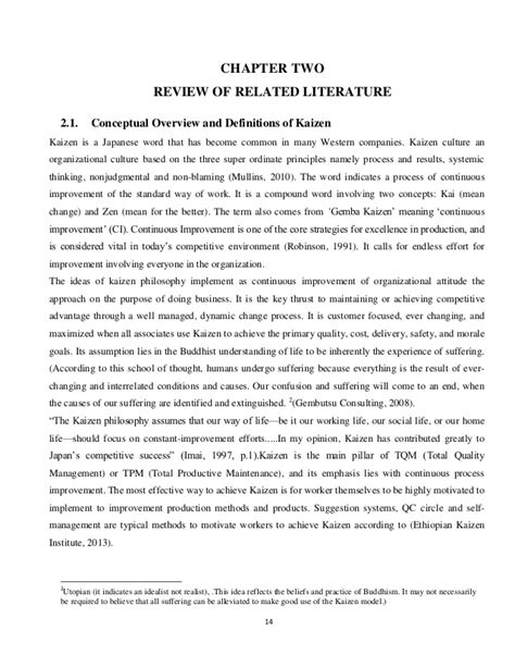 local literature in thesis about education literature review kaizen