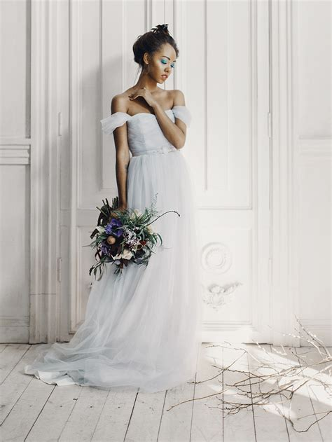 Wedding Dress Inspiration by And Feminine Bridal Inspiration Grey Wedding Dress