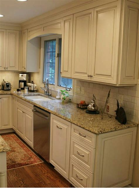 granite countertops for ivory cabinets white cabinets subway tile beige granite countertops
